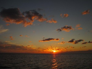 Sunset from Rainbow Cay on Eleuthera